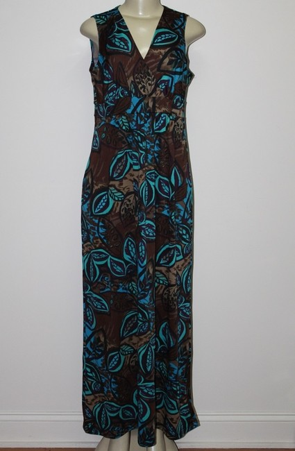 Turquoise Print Maxi Dress by Kate & Mallory