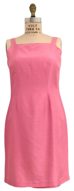 Item - Baby Pink 100%silk Seath Above Knee Cocktail Dress Size 6 (S)