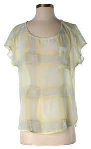 Splendid Nwt Plaid Top Yellow