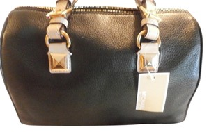 Michael Kors Leather Monogram Limited Edition Satchel in BLACK