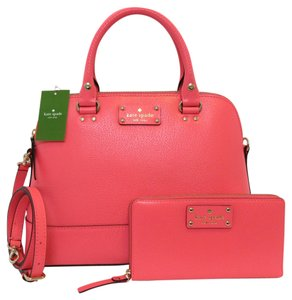 Kate Spade Satchel in Peony, Pink, Gold