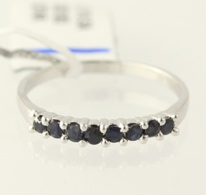 Sapphire Ring - 925 Sterling Silver Band Womens Birthstone 0.35ctw