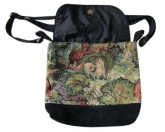 Preload https://item3.tradesy.com/images/horse-tapestry-with-black-suede-and-shoulder-bag-138902-0-0.jpg?width=440&height=440