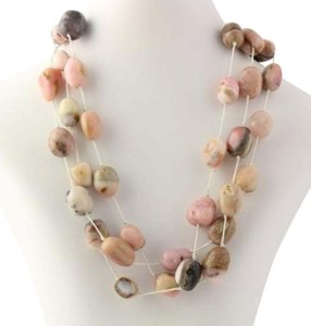 Other Pink Opal Sterling Silver Necklace