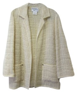 Chanel Textured Cream Blazer