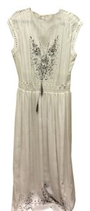 White Maxi Dress by Rebecca Taylor Long Size 10 Grey