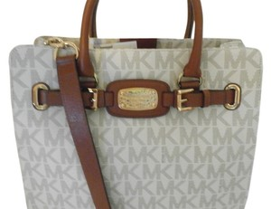 Michael Kors Tote in white/brown