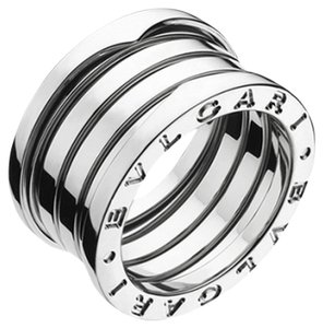 BVLGARI Bulgari B.Zero1 18K White Gold 4 Band Ring AN191026 US 5
