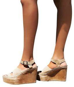 Free People Monte Carlo Sz 38 Suede Color Sold Out In Wedges