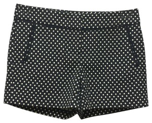 Kenar Polka Dot Chino Embroidered Exclusive Crochet Mini/Short Shorts Navy blue/Ivory