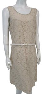 The Limited short dress Beige Floral Lace A-line Belted on Tradesy