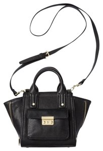 3.1 Phillip Lim Target Satchel in Black, Gold