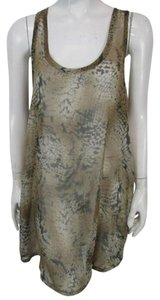Patterson J. Kincaid short dress Brown Cover Up Sheer Tunic Animal Print on Tradesy