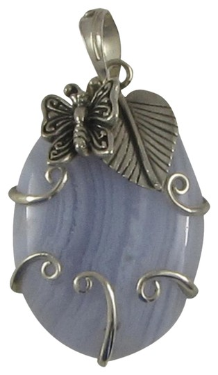 Island Silversmith Island Silversmith Gorgeous 925 Sterling Silver Agate Butterfly Pendant 0401X *FREE SHIPPING*