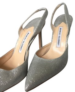 Manolo Blahnik Silver metallic Pumps