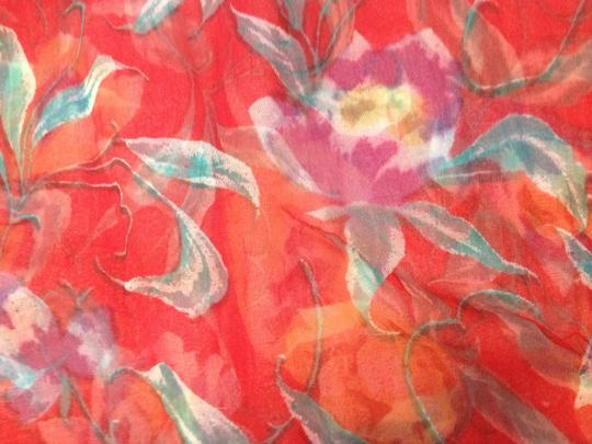 Other Red Garden Scarf; 67''L x 33''W - [ Roxanne Anjou Closet ]