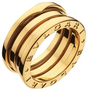 BVLGARI Bvlgari B.Zero1 18K Yellow Gold 3 Band Ring AN191023 US 5.75