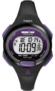 Timex Timex Women's T5K5239 Sport Ironman Black and Purple Watch