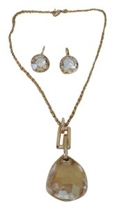 Swarovski Swarovski Yellow Crystal Necklace and Earring Set
