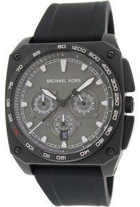 Michael Kors Michael Kors MK8390 Men's Grandstand Chronograph Black Silicone Watch NEW! $275
