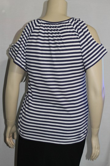 delicate Ava & Grace Navy/White New With Tags Size Petite X - Large Top - 60% Off Retail