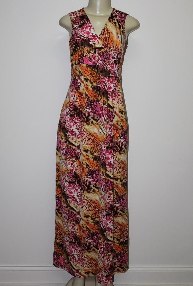 Kate Mallory Pink New Stretch Knit Sleeveless Crossover Front All