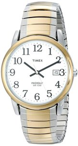 Timex Timex Men T2H311 Easy Reader Two-Tone Expansion Band Watch