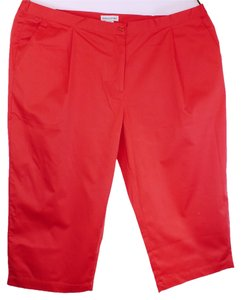 Jessica London Plus-size Plus Size Capris Red