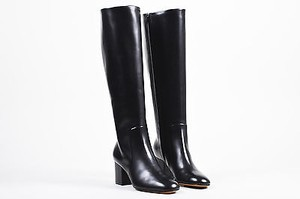 Cline Celine Leather Mid Black Boots