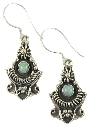 Island Silversmith Island Silversmith 925 Sterling Silver Earrings with Larimar Accent 0401A *FREE SHIPPING*