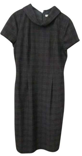 Preload https://item1.tradesy.com/images/liz-claiborne-grey-plaid-washable-back-zipper-lined-cowl-neck-belted-above-knee-workoffice-dress-siz-138935-0-2.jpg?width=400&height=650