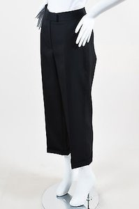 Dior Christian Wool Cropped And Cuffed Wide Leg Pants