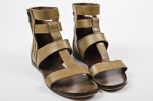 Marni Olive Leather Green Sandals