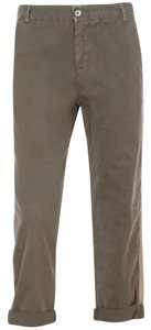 Current/Elliott Current Elliot Relaxed Chino Khaki/Chino Pants Light Gray