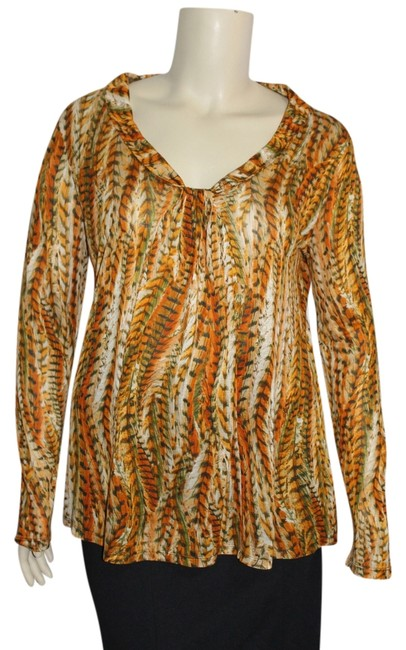 Jones New York Top Inca Gold Multi