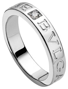BVLGARI Bvlgari 18K White Gold Diamond Ring AN853348 US 6.5