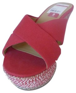Nine West Wedge Sandal Red Wedges