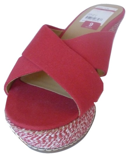 Nine West Sandal Red Wedges