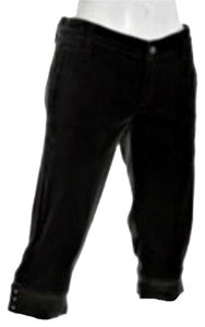7 For All Mankind Velvet Crop Pants Capris Black