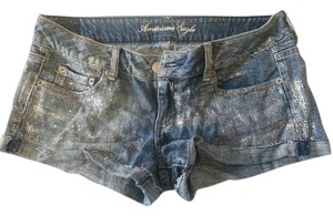 American Eagle Outfitters Glitter Mini/Short Shorts Denim