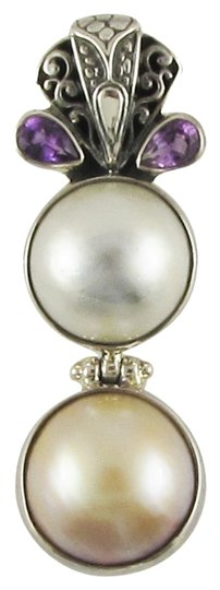 Preload https://item4.tradesy.com/images/island-silversmith-island-silversmith-white-and-gold-double-mabe-pearl-amethyst-925-silver-pendant-0401t-free-shipping-1389473-0-0.jpg?width=440&height=440