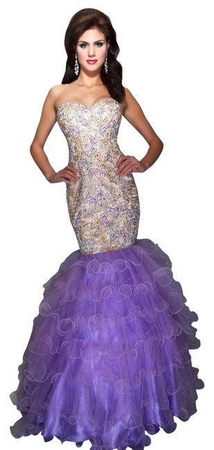 Mac Duggal Couture Mermaid Beaded Tulle Dress