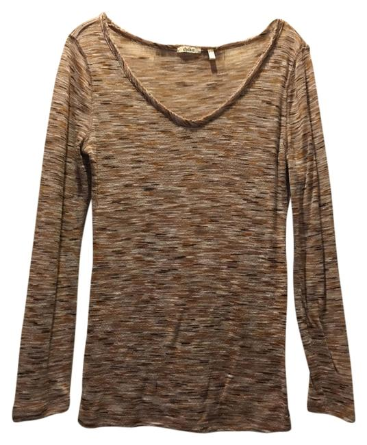 Evereve Heathered Taupe Tee Shirt Size 4 (S) Evereve Heathered Taupe Tee Shirt Size 4 (S) Image 1