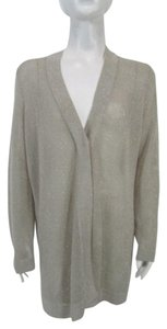 Chico's Open Knit One Button Knit Sweater Cardigan