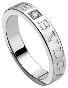 BVLGARI Bvlgari 18K White Gold Diamond Ring AN853348 US 7