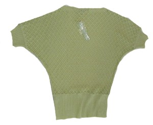 Antonio Melani Sweater Open Knit Medium T Shirt Green