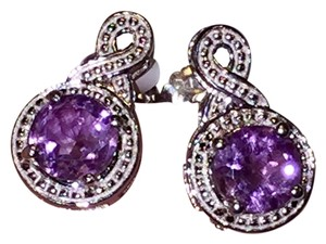 Olivia Leone Brand New Olivia Leone earrings Amethyst silver round cut post