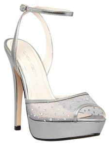 Caparros Meridian Evening Heels Bridal Wedding Silver Pumps