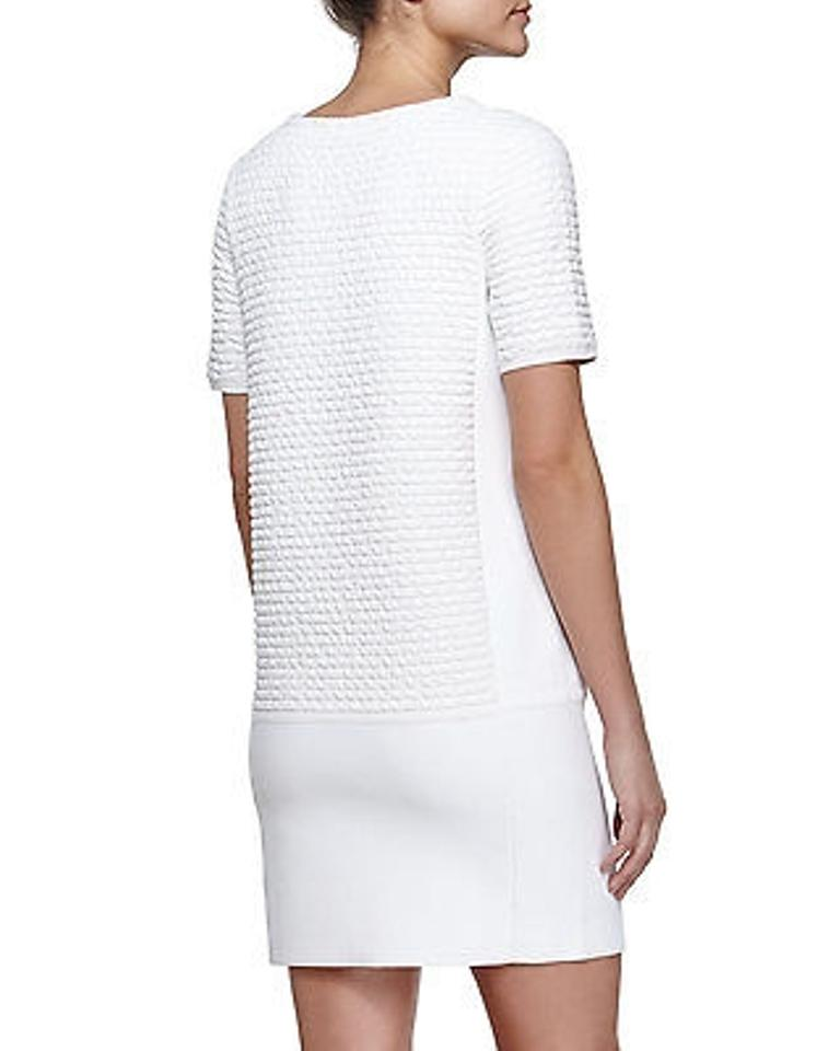 White amp; Knit Cocktail Out Night Dress Stretch Rag Bone Textured Mini wZPBqREq