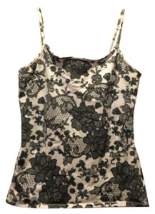 Express Top Black/White Floral